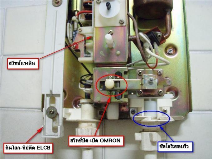 ส่วนประกอบและการทำงาน ของเครื่องทำน้ำอุ่นไฟฟ้า