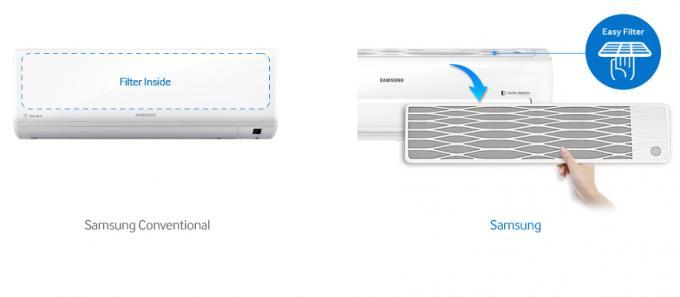 แอร์ติดผนัง Samsung Inverter สามเหลี่ยม พร้อม Smart Wifi