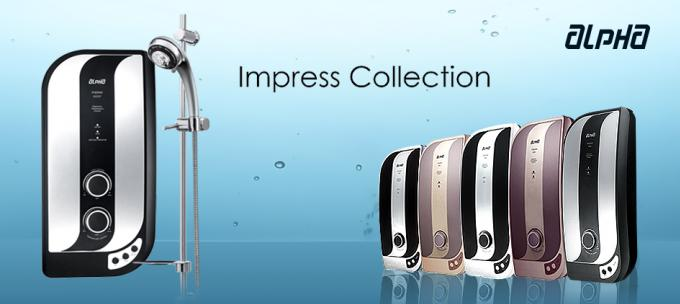 เครื่องทำน้ำอุ่น Alpha   Impress 700E มี 5 สี พร้อมฝักบัวปรับระดับ