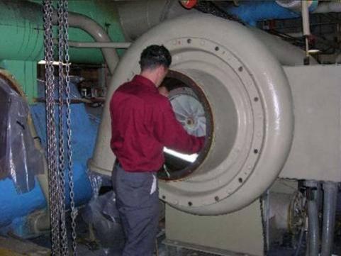 ขั้นตอนในการซ่อมเครื่องทำน้ำเย็น ที่เกิด Motor Burnout Repair