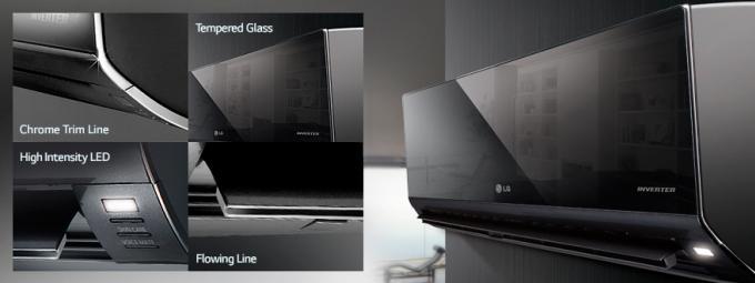 แอร์ LG รุ่น Art Cool Inverter สั่งงานด้วยเสียง ดีไซน์กระจกแก้วเคลือบเงา