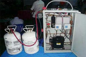 หลักการบรรจุสารความเย็นในสถานะแก๊ส และของเหลว